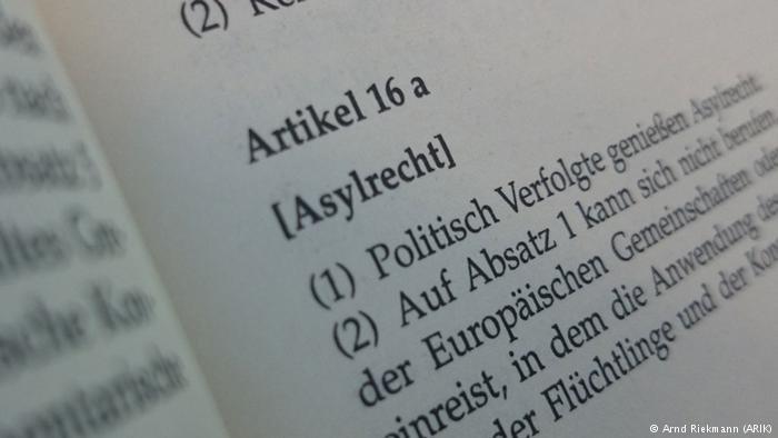 د آلمان په اساسي قانون کي د پناه غوښتني مادې سته