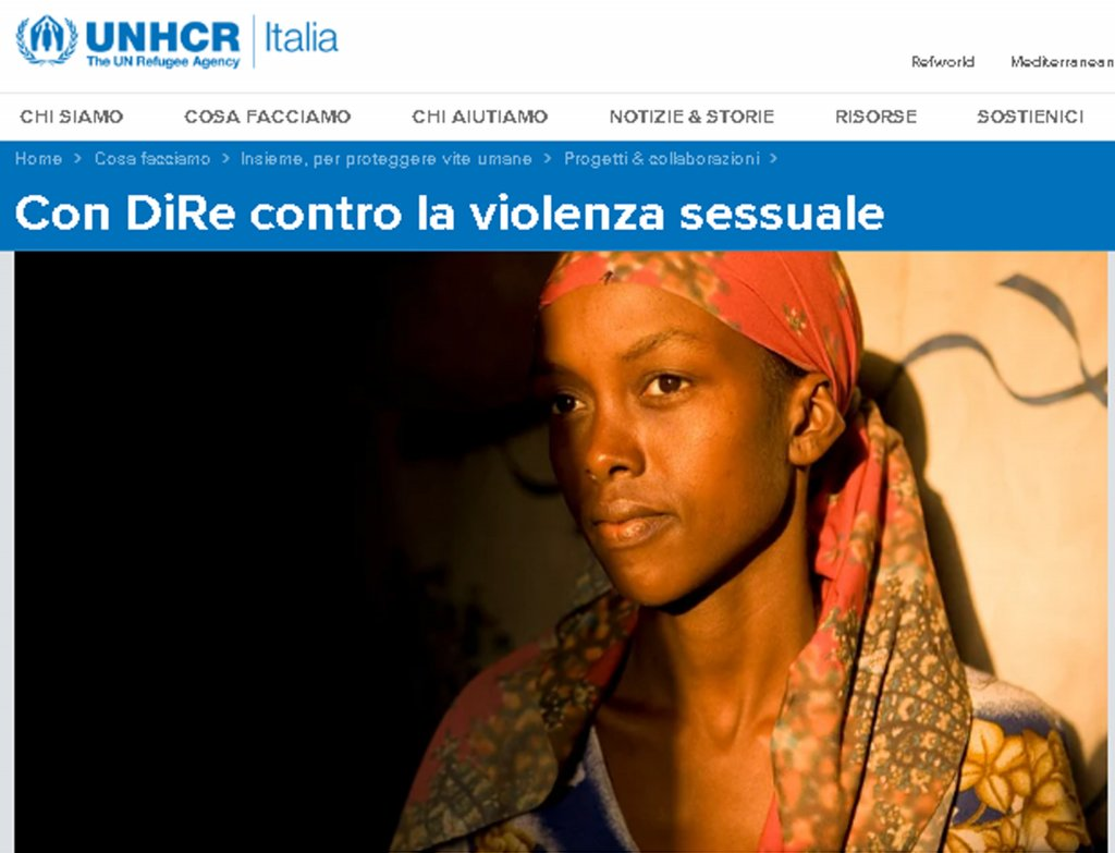 Photo of a migrant woman to illustrate the plan of Italian association D.i.Re and UNHCR against sexual and gender-based violence | Credit: website UNHCR