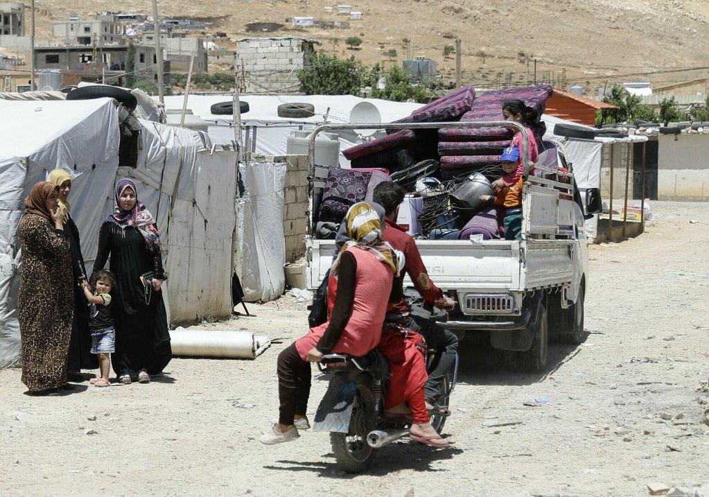 Des réfugiés syriens dans un camp dans le nord-est du Liban (Image d'illustration). Crédit : AFP