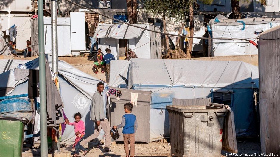 کمپ پناهجویان در جزیره لیسبوس یونان سال ۲۰۱۸، عکس از آرشیف