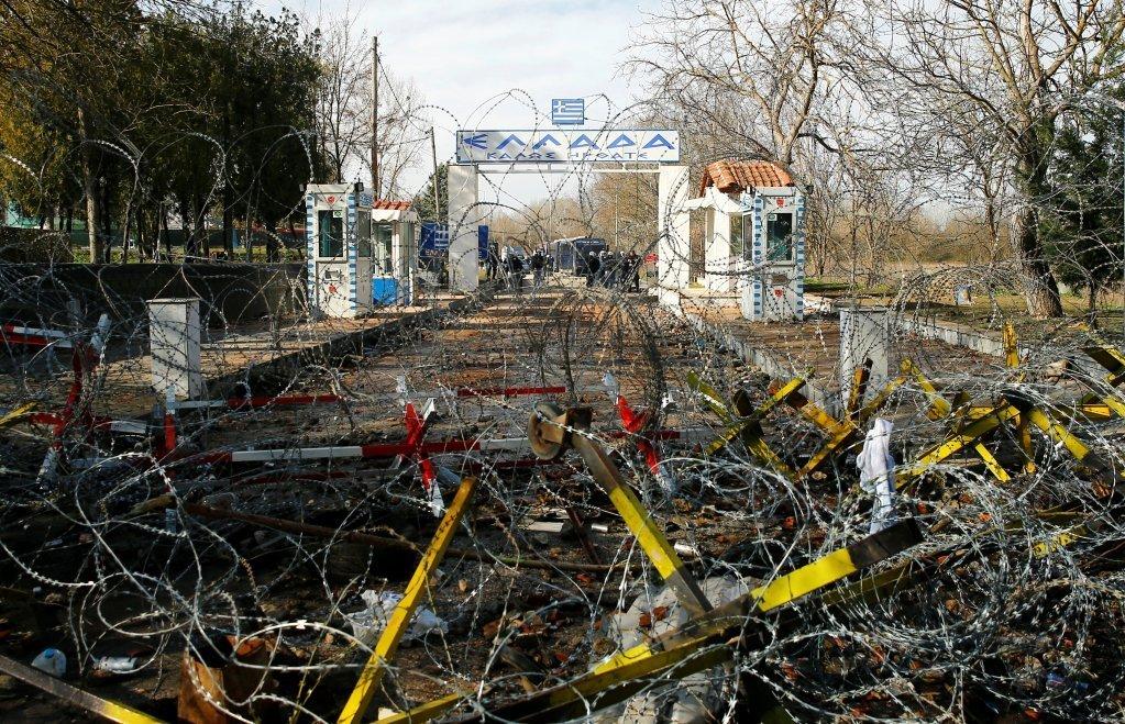معبر بازاركولي الحدود بين تركيا واليونان، 2 آذار\مارس 2020. رويترز