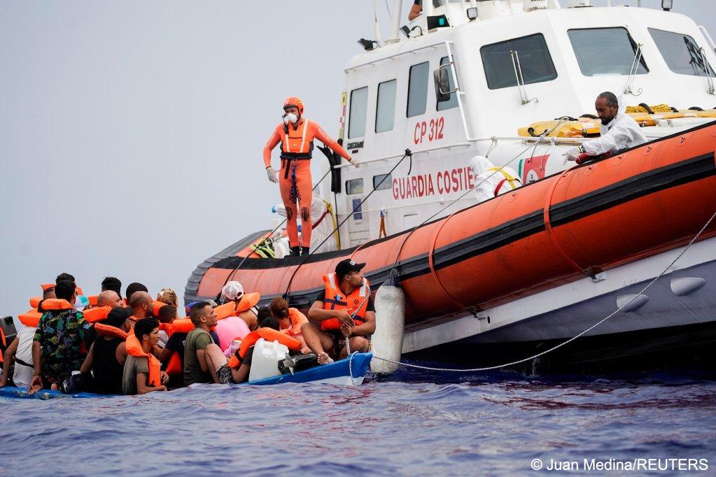 From file: Italian coast guard rescues migrants near the island of Lampedusa on September 1, 2021   Photo: Juan Medina/REUTERS