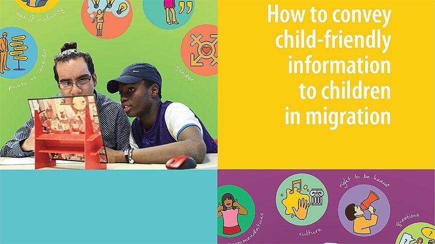 ANSA / غلاف كتيب مساعدة الأطفال المهاجرين الصادر عن المجلس الأوروبي للهجرة واللاجئين. المصدر: المجلس الأوروبي.