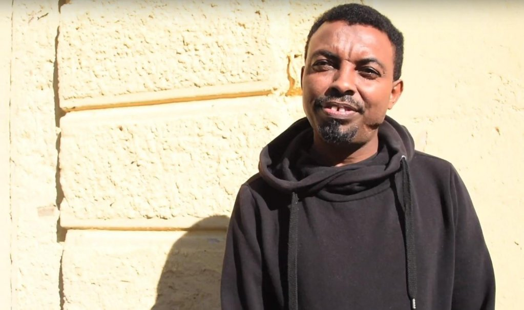 Khalif, a young Somali man who is one of the protagonists of the video. (Credit: Programma Integra)