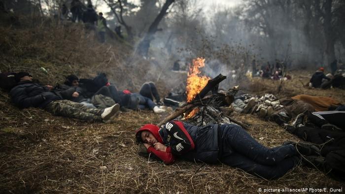 مهاجران در مرز ترکیه-یونان گیر مانده اند