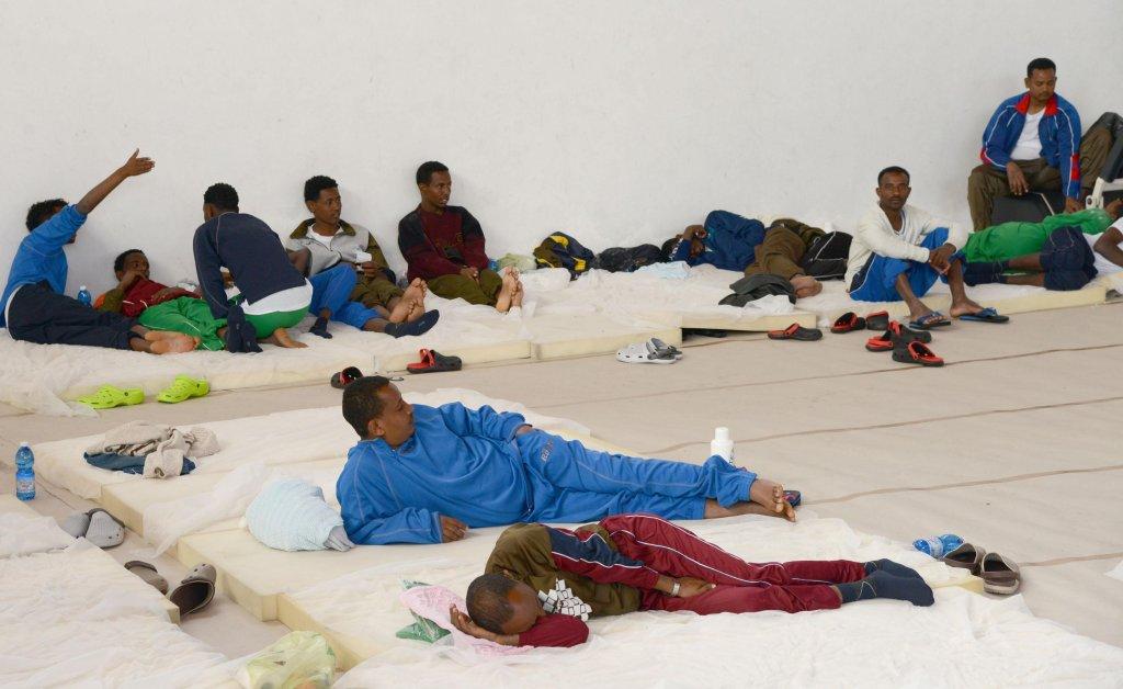 Migrants at the PalaCus Arcidiacono centre in Catania. PHOTO/ARCHIVE/ANSA/ORIETTA SCARDINO