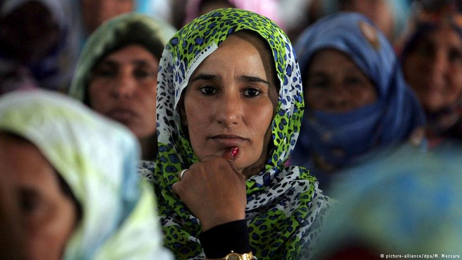 A Sahrawi refugee in a camp near Tindouf, Algeria