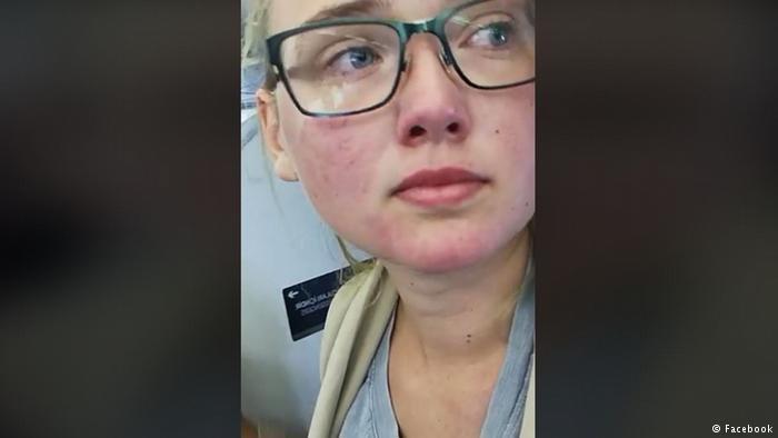 دختر جوان سویدنی که از اخراج یک پناهجوی افغان در یک هواپیما جلوگیری کرده بود، محاکمه شد.