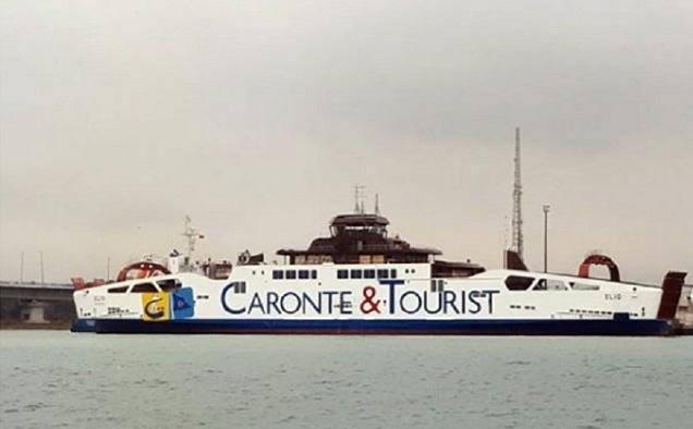 ANSA / سفينة تابعة لشركة كارونتي وتوريست في ميناء ميسينا. المصدر: أنسا/ دومينيكو تروفاتو.