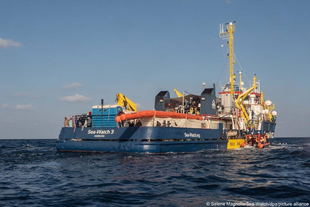 Le Sea Watch 3 après une série de sauvetages fin février 2021. Crédit : picture alliance/dpa/Sea-Watch | Selene Magnolia