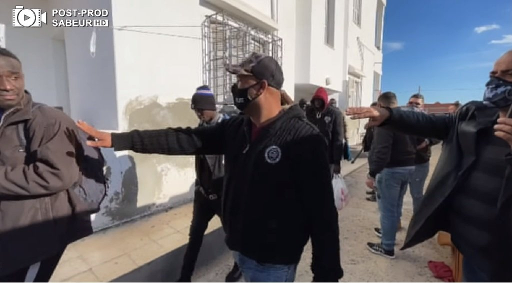 صورة مأخوذة من الفيديو الذي نشرته الشرطة التونسية