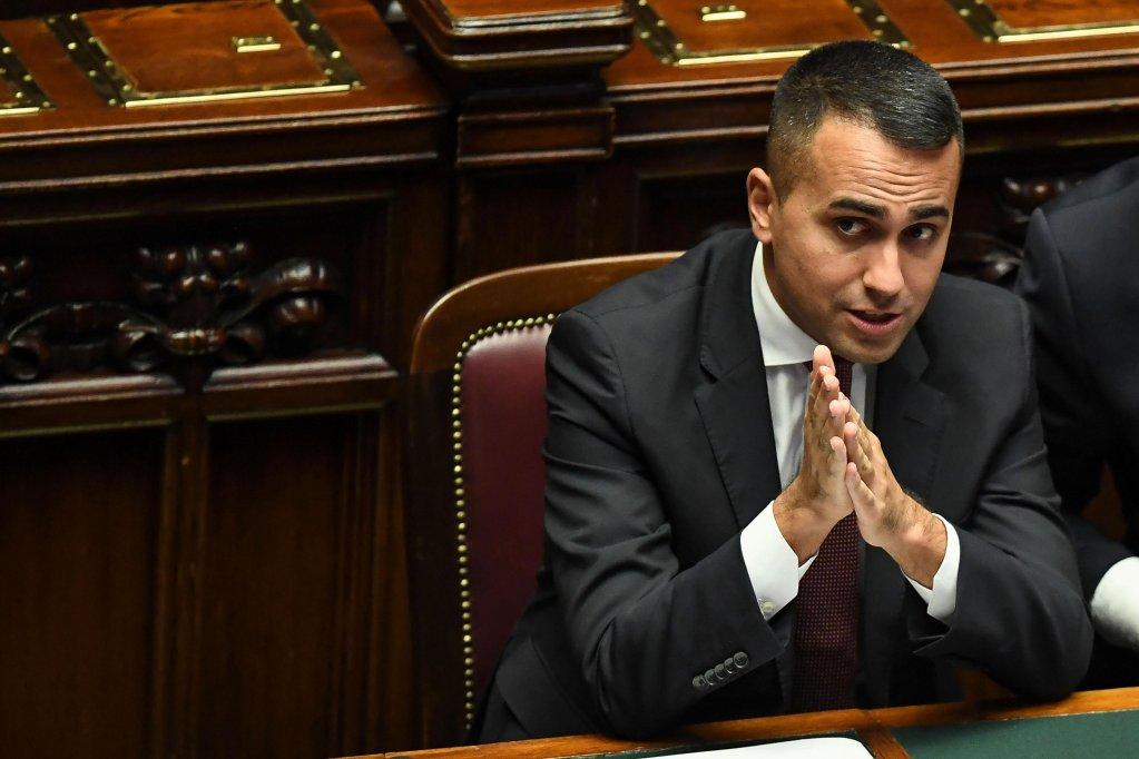 ANSA / لويجي دي مايو وزير الخارجية الإيطالي في البرلمان. المصدر: أنسا/ اليساندرو دي مايو.