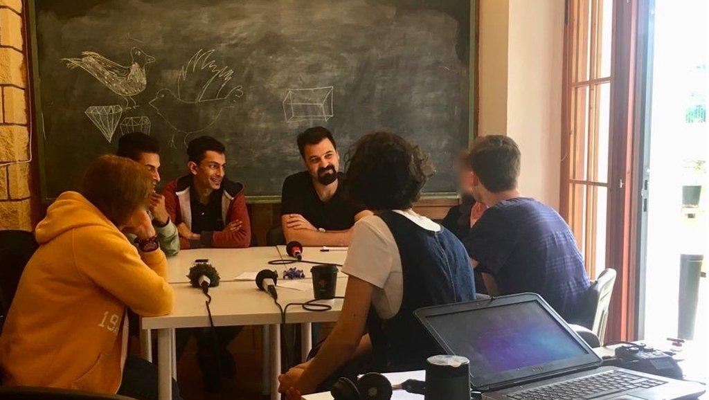 MicroCamp Radio |Atelier radio dans le centre d'inclusion OMNES à Kilkis.