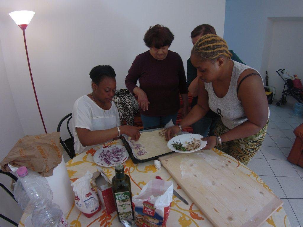 The cooking workshop is helping migrants integrate | Credit: Umbria Integra