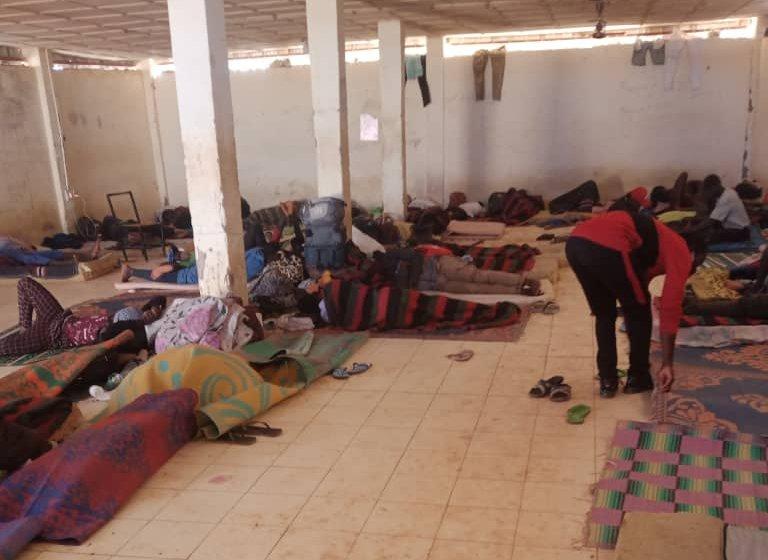 La pièce dans laquelle dort Falikou Dosso, dans le centre de l'OIM d'Agadez. Crédit : DR