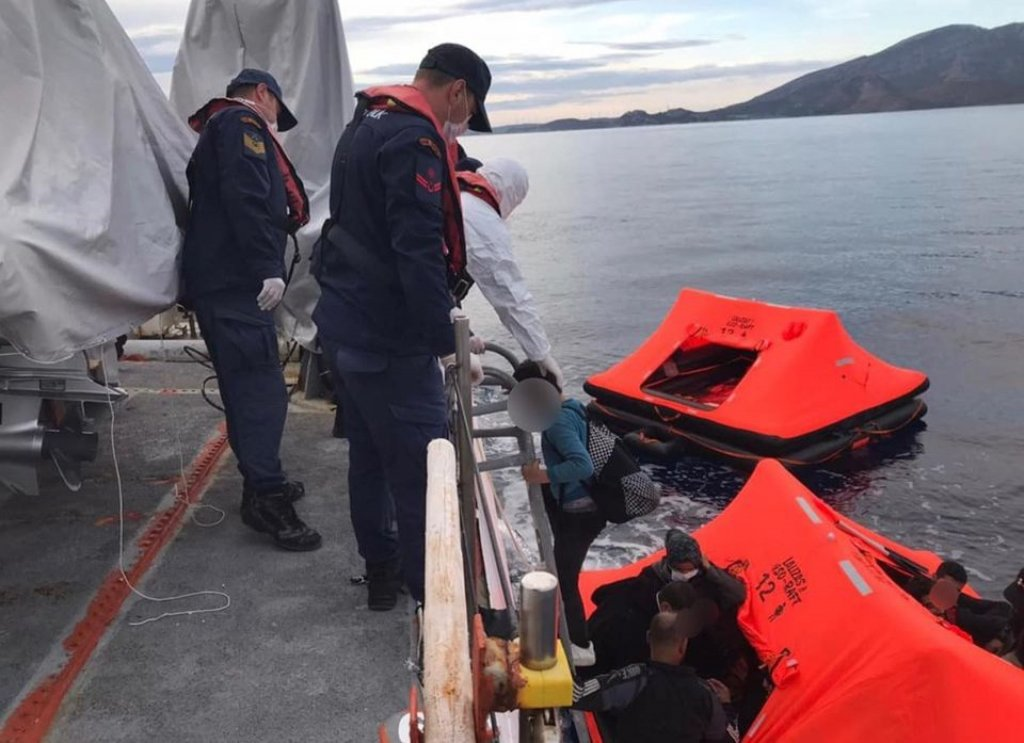 A photo taken from the NGO Aegean Boat Report which accuses the Greek coast guard of mass migrant pushbacks | Credit: NGO Aegean Boat Report