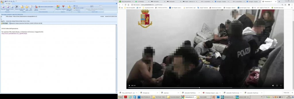 A frame of the police video on the operation against the alleged traffickers   Photo: Police
