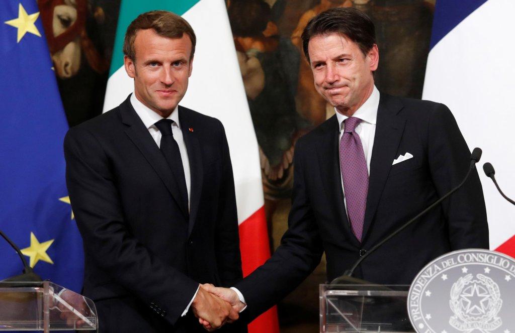 REUTERS/Remo Casilli |Emmanuel Macron et Giuseppe Conte le 18 septembre 2019 à Rome.