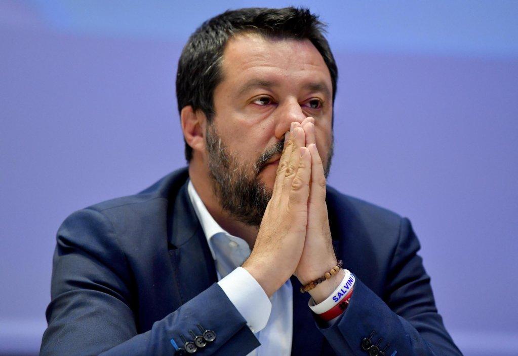 Interior Minister Matteo Salvini. Photo: ANSA/DANIEL DAL ZENNARO