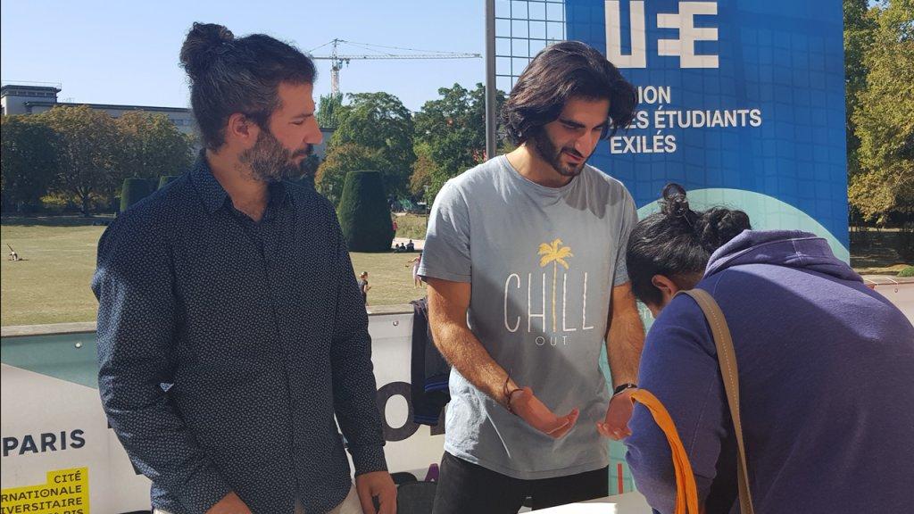 اتحاد الطلبة المنفيين يشارك في فعاليات المدينة الجامعية في باريس
