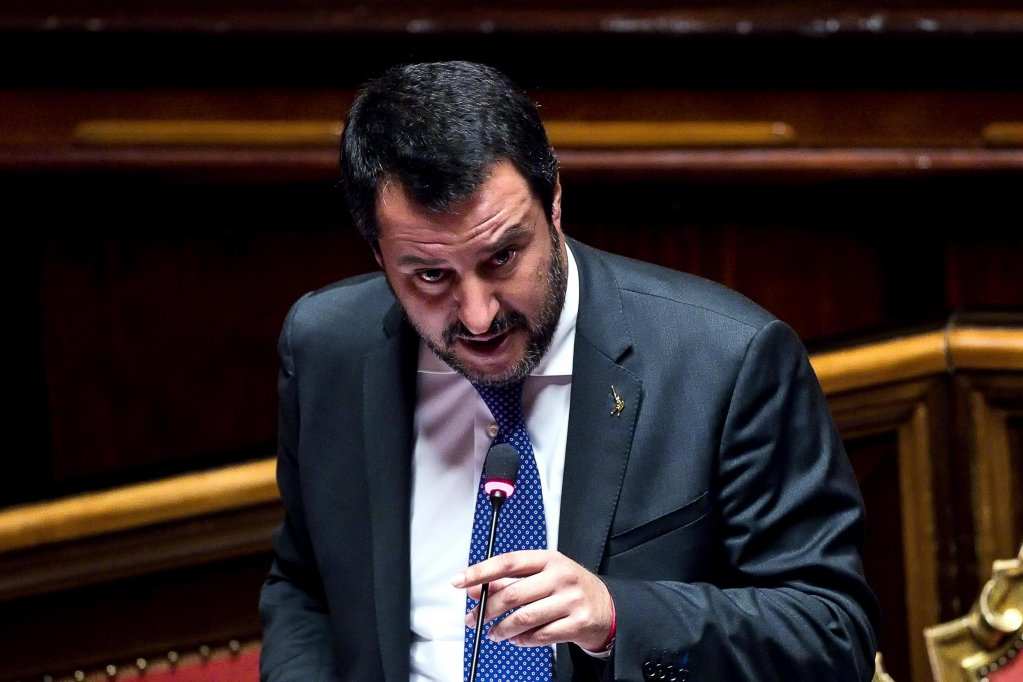 وزير الداخلية الإيطالية ماتيو سالفيني المصدر / أنسا / أنجيلوكاركوني
