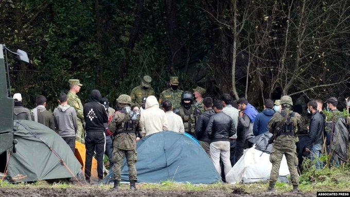 الشرطة البولندية على الحدود مع بيلاروسيا
