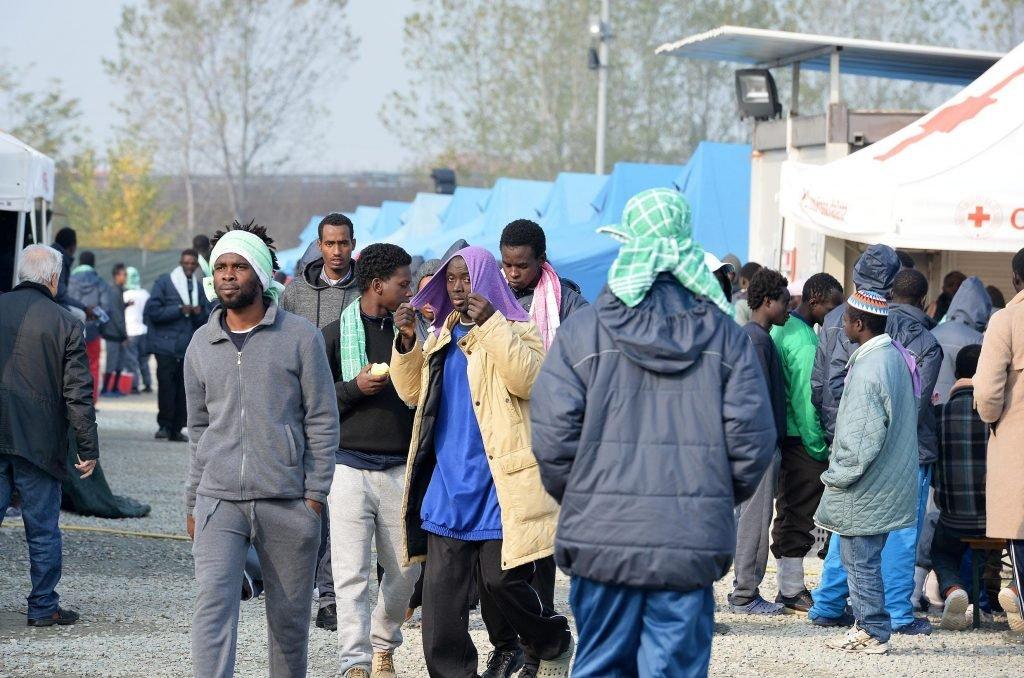 """مركز """"فينوليو"""" التابع للصليب الأحمر الإيطالي والمخصص لاستقبال المهاجرين وطالبي اللجوء في 11 ت2/نوفمبر 2016 @ANSA"""