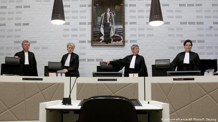 picture-alliance/AP Photo/P. Dejong |قضاة في محكمة هولندية - أرشيفية