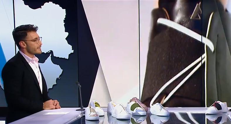 Daniel Essa, créateur de mode et réfugié syrien. Capture d'écran France 24