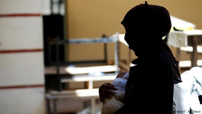 صورة من الأرشيف لاجئة عراقية