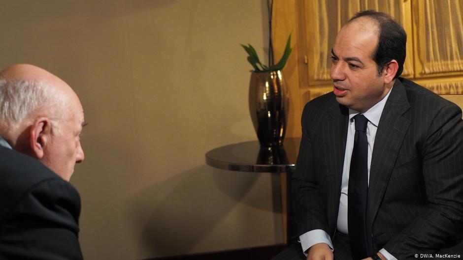Ahmed Maiteeq, Libya's deputy prime minister, on DW's Conflict Zone recorded November 15, 2019 in Paris    Photo: DW/A. MacKenzie