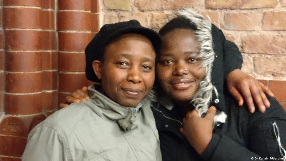 Two African asylum seekers | Photo: Dr Kerstin Söderblom