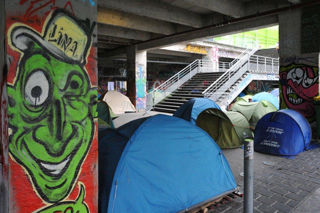 A migrant camp in 2015. (Credit: Mehdi Chebil)