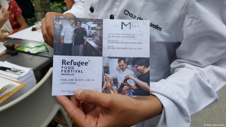 Le Mess Restaurant in Brussels: Ali al-Krizi | Photo: DW/J.Järviniemi