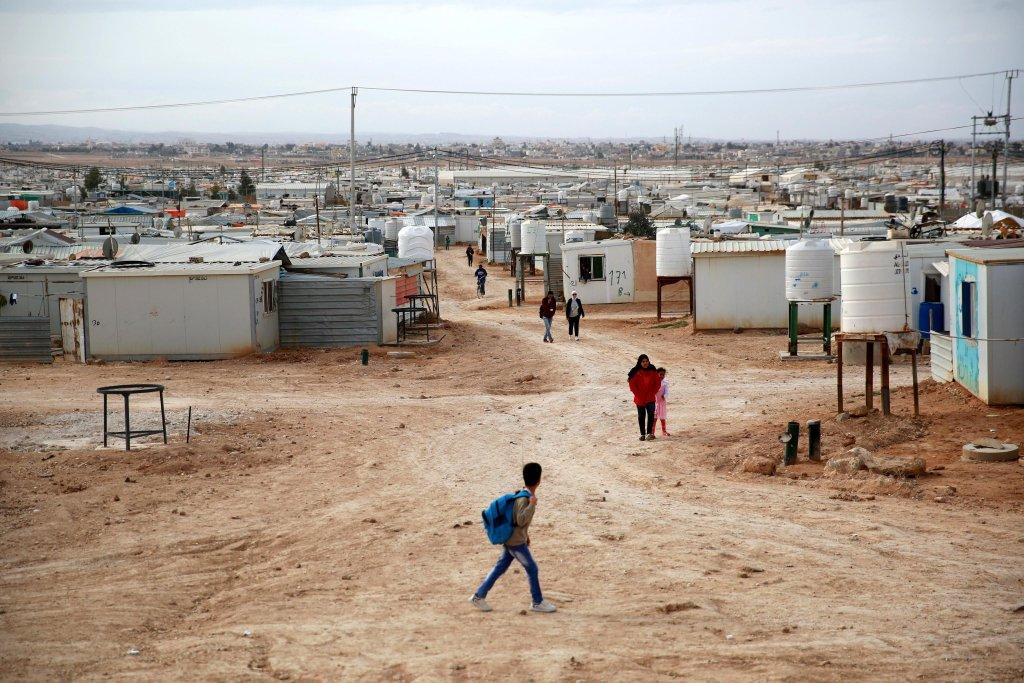 """ansa / منظر عام لمخيم الزعتري للاجئين في الأردن. المصدر: """"إي بي إيه""""/ أندري بين."""