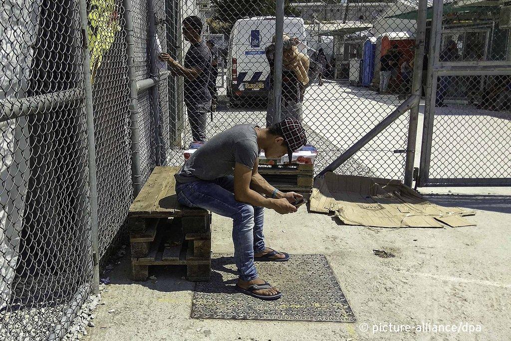 یو کډوال د یونان د لېسبوس ټاپو په موریا کمپ کې. کرېډېټ: پېکچر الاینز/ان. اکونومو