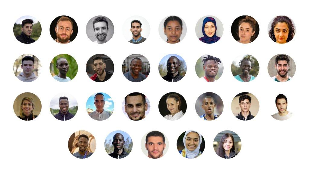 ۲۹ عضو تیم پناهجویان برای شرکت در بازی های المپیک که در توکیو برگزار می شود/منبع: اسکرین شات از Olympics.com به تاریخ ۹ جون سال ۲۰۲۱.