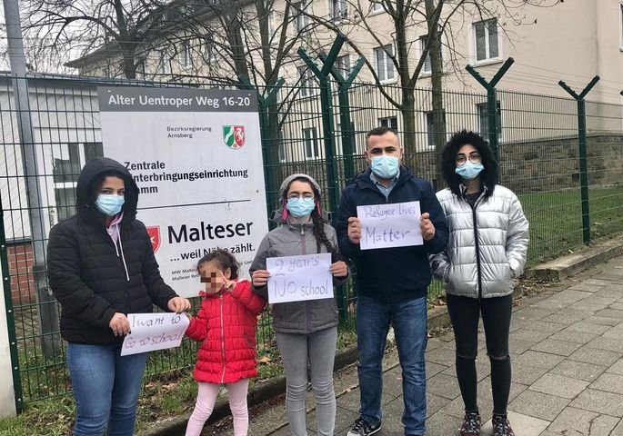 Maher and his family are from Iraq. They have been living in a center for over a year in Germany with no answer regarding their application for asylum | Photo: Private