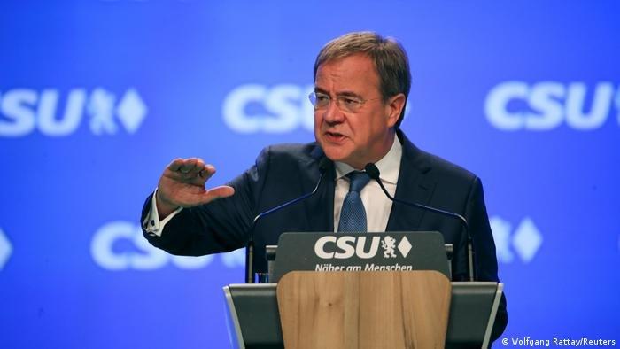 آرمین لاشت، نامزد مقام صدارت آلمان از حزب دموکرات مسیحی و اتحادیه سوسیال مسیحی بایرن و نخست وزیر فعلی ایالت نورد راین وستفالن آلمان