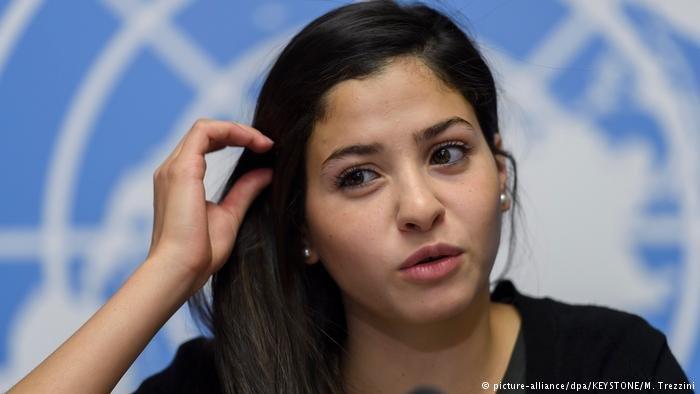 السباحة السورية يسرى مارديني سفيرة الأمم المتحدة للنوايا الحسنة تحصل على جائزة ألمانية