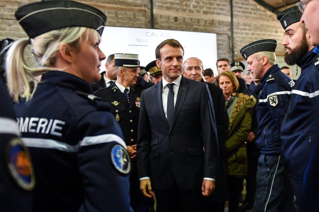Macron en visite dans le nord de la France, en janvier 2018. Crédit : Reuters