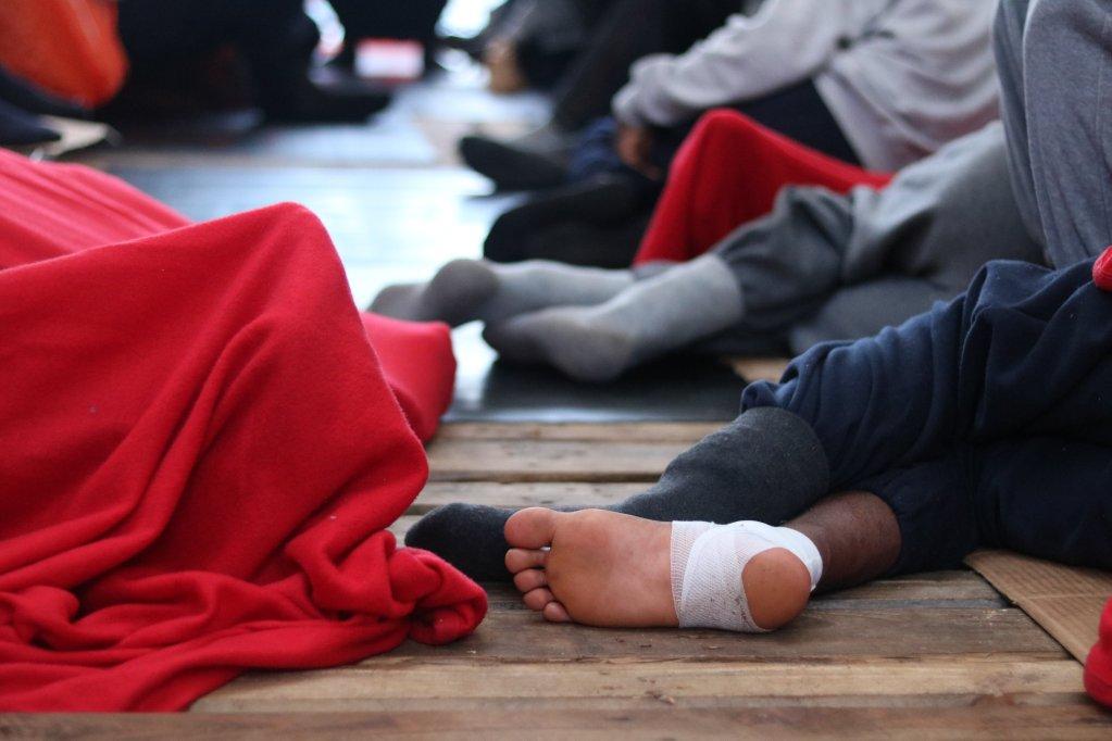 Les 121 rescapés de l'Ocean Viking (photo) et de l'Alan Kurdi vont débarquer en Italie avant d'être transférés ailleurs en Europe. Crédit : MSF