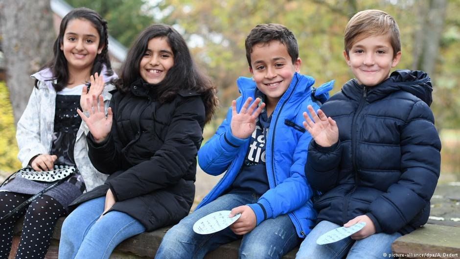 German schoolchildren come from diverse backgrounds