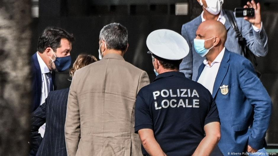 Matteo Salvini arrives at court | Photo: Alberto Pizzoli/AFP/Getty Images