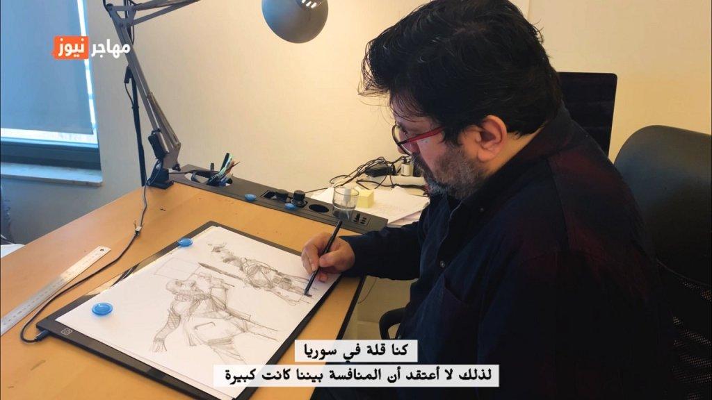 الفنان السوري فارس قره بيت/ الصورة: كنده يوسف، مهاجر نيوز