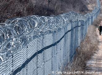 Getty Images/AFP/N. Doychinov |صورة من الأرشيف للحدود التركية-البلغارية