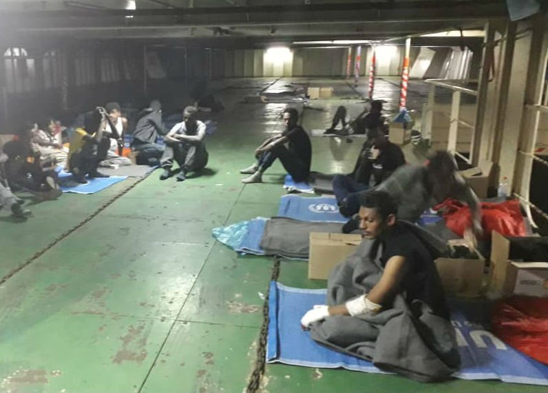 File photo of the Nivin migrants, November 2018   Credit: DR