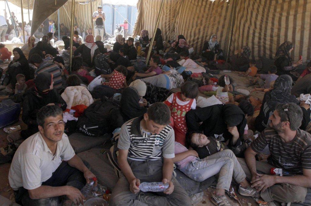 From file: Syrian refugees at Zaatari camp in Jordan / EPA