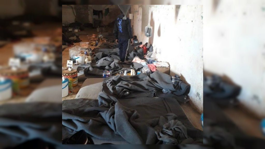 Inside the Zintan migrant detention centre in Libya, in March, 2019. Photo: DR