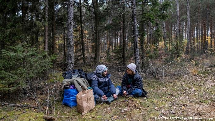 Activists have argued that the forest that borders Poland and Belarus is too cold and unsafe, especially for children   Photo: Getty images via DW